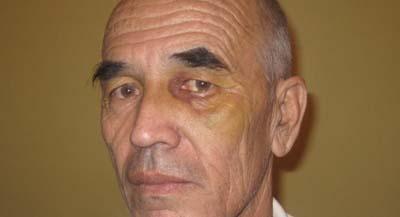 This photo of Askarov was taken at the start of the trial in September 2010. (Nurbek Toktakunov)