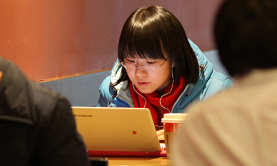 In China, Internet users have been blocked from accessing the website of the Bloomberg news agency. (AFP/Ed Jones)