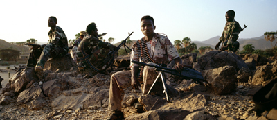 The border between Sudan and Eritrea is heavily patrolled. (AFP/Thomas Goisque)