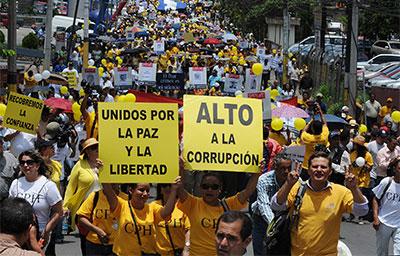 Journalists protest violence against members of the media in Tegucigalpa, Honduras, May 25. (AP/Fernando Antonio)