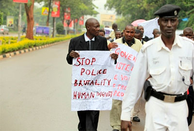 Ugandan journalists protest on World Press Freedom Day in 2011. (Edward Echwalu)