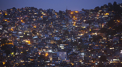 The Rocinha neighborhood of Rio de Janeiro. Such neighborhoods, or favelas, have been risky for reporters. (AP/Felipe Dana)