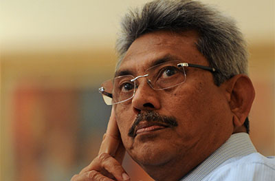 Defense Secretary Gotabaya Rajapaksa responded nastily to a question from The Sunday Leader, an editor says. (AFP/Ishara S.Kodikara)