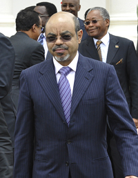 Rumors abound about the health and whereabouts of Ethiopian Prime Minister Meles Zenawi. (AFP/Simon Maina)