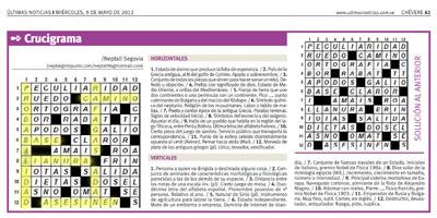 State media accused Últimas Noticias of using this crossword puzzle in a plot to assassinate Hugo Chávez's brother. (Reuters/Últimas Noticias)