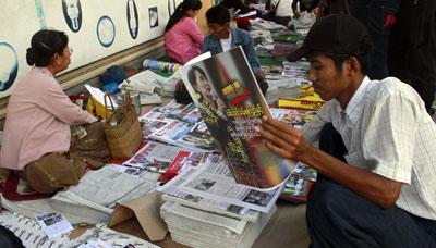 Two weekly news publications have been suspended indefinitely in Burma. (AP/Khin Maung Win)