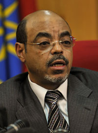 The late Ethiopian Prime Minister Meles Zenawi, shown here in 2010. (AFP/Simon Maina)