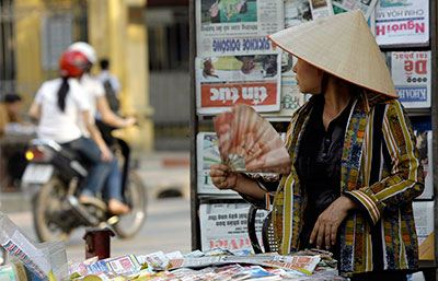 All news publications in Vietnam are owned and controlled by the government. (AP/Chitose Suzuki)