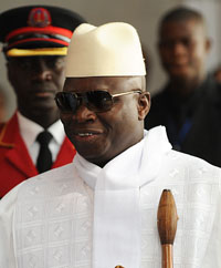 President Yahya Jammeh has ordered two newspapers to cease publishing. (AFP/Simon Maina)
