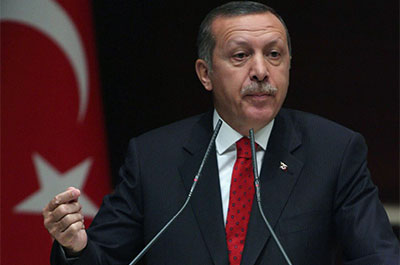 Turkish Prime Minister Recep Tayyip Erdoğan instructed the country's journalists not to cover soldiers' deaths or other news related to the conflict with Kurd separatists. (AP)