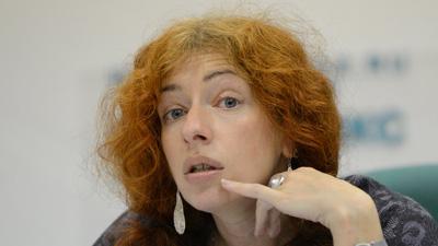 Tanya Lokshina announced today that she has received threatening text messages. (AFP/Natalia Kolesnikova)
