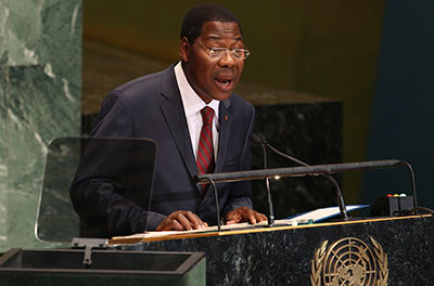 Boni Yayi, president of Benin, wrote the country's media regulator to complain about television coverage by Canal 3. (AP/Seth Wenig)