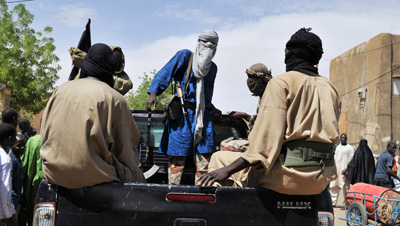 Two journalists were detained for attempting to visit Gao, a town that Al-Qaeda-linked militants have seized. (AFP/Issouf Sanogo)