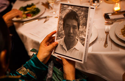 CPJ recognized jailed Tibetan filmmaker Dhondup Wangchen in 2012. (Michael Nagle/Getty Images for CPJ)