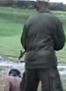 A still from the video showing a Sri Lankan soldier about to execute a prisoner. (AFP/Journalists for Democracy in Sri Lanka)