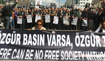 Journalists call for freedom of the press in a 2011 rally in Ankara. (AFP/Adem Altan)