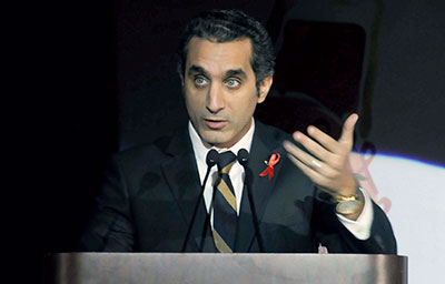 Egyptian TV host Bassem Youssef is under investigation for allegedly insulting Egypt's president, a criminal offense. (AP/Ahmed Omar)