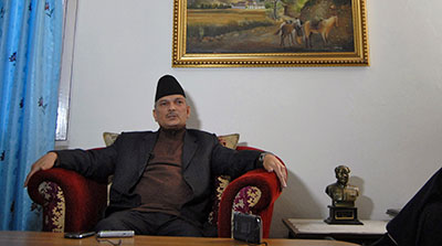 Nepalese Prime Minister Baburam Bhattarai condemned arrests in the 8-year-old murder case of a radio journalist. (Reuters/Rajendra Chitrakar)
