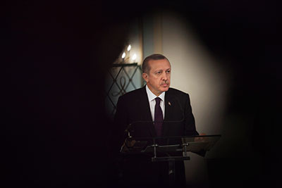 Some diplomats view Turkey's reaction to criticism of its press freedom record under Prime Minister Recep Tayyip Erdoğan as excessively defensive. (Reuters/Joe Penney)