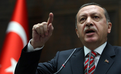 Erdoğan speaks at a meeting in parliament on Wednesday. (AFP/Adem Altan)
