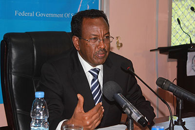 Somali Prime Minister Abdi Farah Shirdon met February 16 with the local journalist union. (NUSOJ)