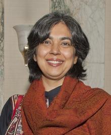 Haroon at CPJ's 2011 award ceremony. (Barbara Nitke)