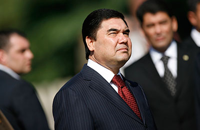 President Kurbanguly Berdymukhamedov, relinquished ownership of Turkmenistan's newspapers, but journalists are still appointed by his decree. (Reuters/Stoyan Nenov)