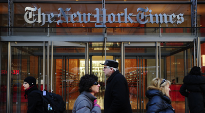 The Times reported in January that it had succeeded in expelling hackers from its computer systems. (AFP/Emmanuel Dunand)