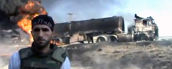 Footage by citizen journalists has proven to be crucial for international coverage of the Syrian conflict. (AP/Ugarit News)