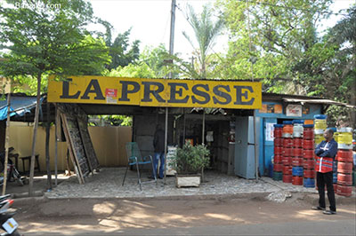 News stands in Mali are empty as journalists strike. (news.abamako.com)