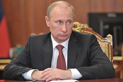 Russian President Vladimir Putin is signaling a intensified crackdown on human rights organizations. (AP/RIA-Novosti, Alexei Nikolsky)