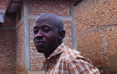 Hassan Ruvakuki, seen here after his release from prison today. (RFI)