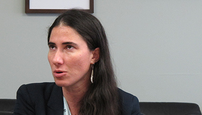 Cuban blogger Yoani Sánchez. (CPJ/Nicole Schilit)