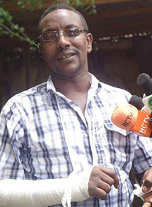 Mohamed Ahmed Jama is attacked in April, imprisoned in July. (Hubaal Media Network)