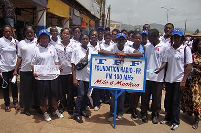 The staff of Foundation Radio (Fomunyoh Foundation)