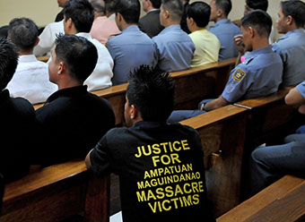 The Maguindanao trial has been marred by attacks on witnesses. (AFP/Jay Directo)