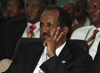 President Hassan has asked for faith. (Reuters/Omar Faruk)