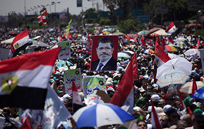 Thousands of Egyptians attended the rally organized by supporters of the Muslim Brotherhood. (AP/Khalil Hamra)