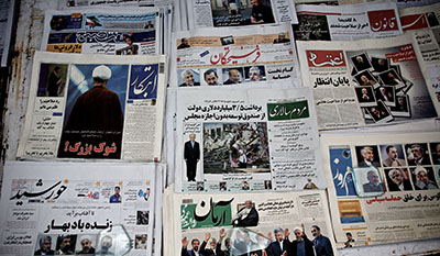 Authorities are cracking down on election coverage by censoring the press. (AFP/Behrouz Mehri)