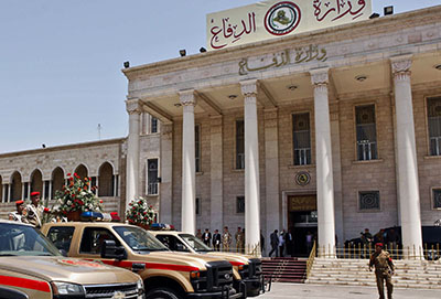 The headquarters of the Ministry Defense in Baghdad, where two journalists were arrested on June 4. (AP/Hadi Mizban)