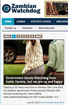 A partial screenshot of the site.