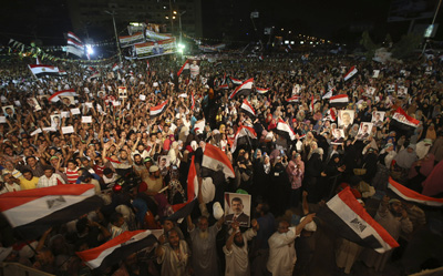A rally in Cairo this week. (AP/Hussein Malla)