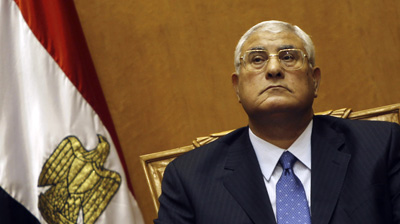 Egypt's interim president, Adly Mansour. (Reuters/Amr Abdallah Dalsh)