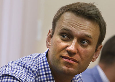 Anti-corruption blogger Aleksei Navalny has been convicted and sentenced to five years. (AP/Dmitry Lovetsky)