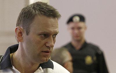 Алексей Навальный на слушании своего дела в суде 2 июля. (Фото Сергея Карпухина/Рейтер)