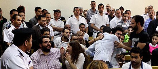 Courtroom spectators were stunned when verdicts were announced in June. (AP/Ahmed Abd El Latif)