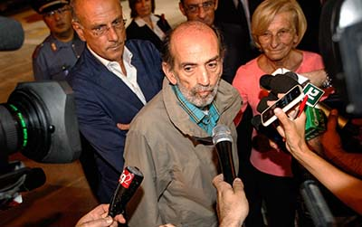 Italian journalist Domenico Quirico was released after being held captive for five months. (AFP/Andreas Solaro)