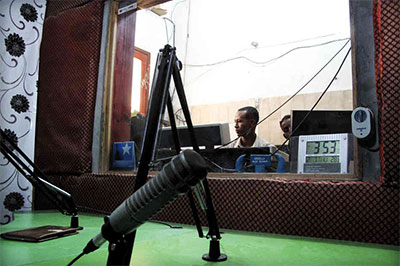 Radio Shabelle was forced out of these offices on Saturday. (NPR)