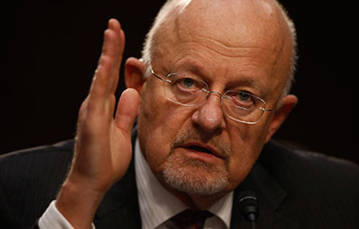 Director of National Intelligence James Clapper testifies at a Senate Intelligence Committee hearing on FISA legislation on September 26. (Reuters/Jason Reed)