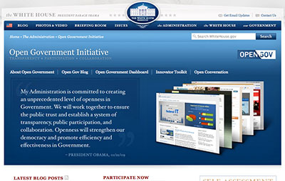 Obama's 'Open Government Initiative' websites turned out to be part of a strategy to minimize the administration's exposure to the press. (CPJ)